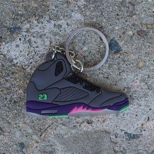 fb619fb8b ... Nike Jordan 5 Retro Bel-Air Shoe Keychain ...